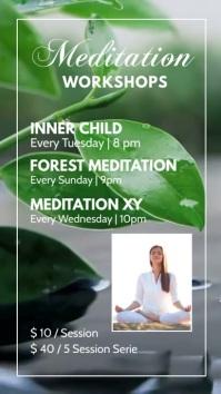 Meditation Workshop Yoga Spirituality Soul Ad Historia de Instagram template