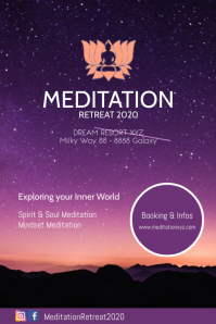 Meditation Workshops Spiritual Healing Advert