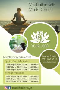 Meditation Workshops Yoga Spiritual Healing Poster template