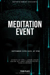 Meditation Yoga Event Flyer Design Template