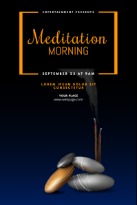 Meditation Yoga Event Flyer Template
