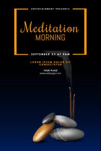 Meditation Yoga Event Flyer Template Poster