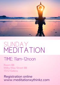 Meditation Yoga Spiritual Healing Mindset Ads A4 template