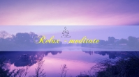 Meditation youtube Channel art template