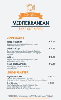 Mediterranean Restaurant Delivery Service Men