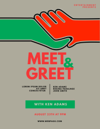 Meet & Greet Blogger Flyer Template