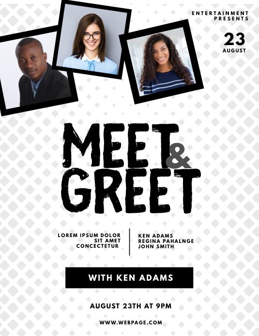 Meet & Greet Blogger Flyer Template