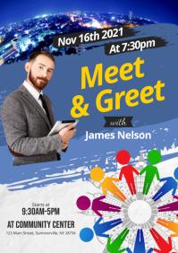 Meet & Greet Flyer A4 template