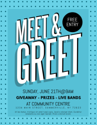 Customizable Design Templates For Meet And Greet PosterMyWall - Free meet and greet flyer template