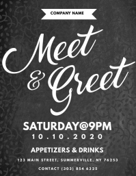 Customizable Design Templates for Meet And Greet | PosterMyWall