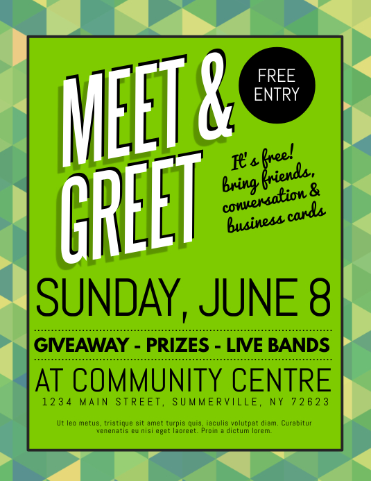 Copy of Meet & Greet Flyer | PosterMyWall