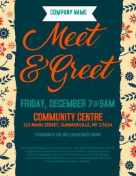 Meet & Greet Flyer template
