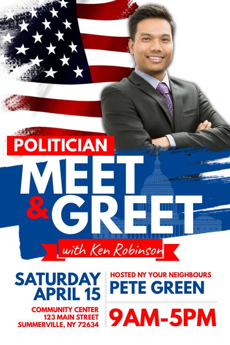 Meet Greet Flyer Template PosterMyWall - Meet and greet flyer template