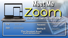 Meet Me With Zoom Digital na Display (16:9) template