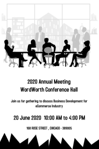 meeting poster template