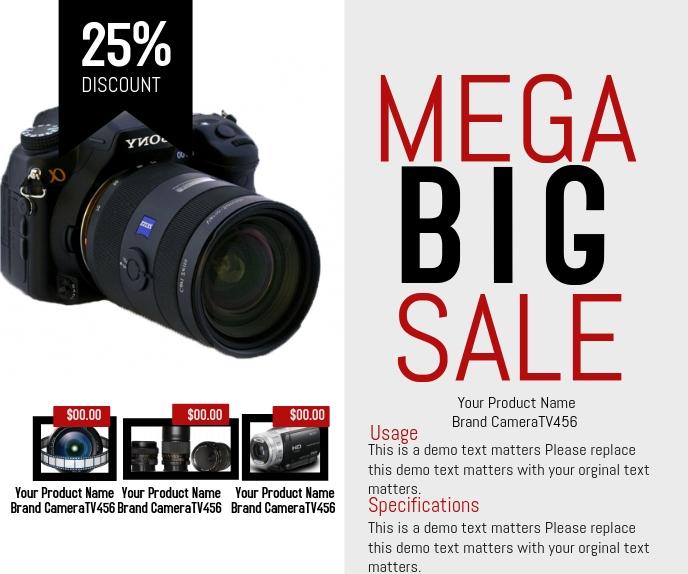 Mega Big Sale Persegi Panjang Besar template