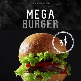 Mega Burger Instagram Sale Offer Video Template