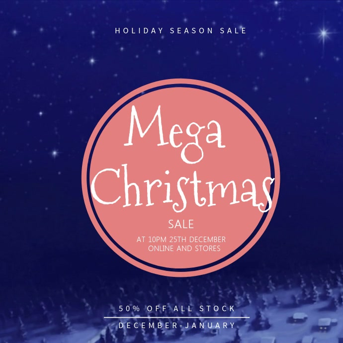 Mega Christmas Sale Instagram Video Template