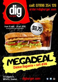 Mega Deal Baguette Poster