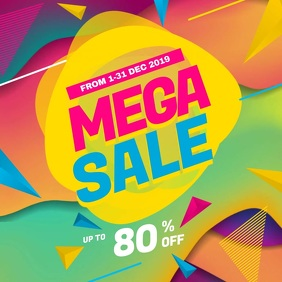 Mega Sale Instagram Post