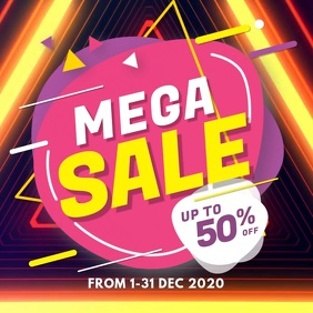 Mega Sale Instagram Video Post