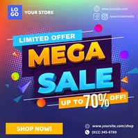 Mega Sale Limited Offer Ad Template Instagram Post