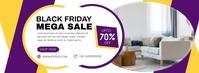 Mega Sale on Black Friday Social Media Advert Facebook Omslag Foto template