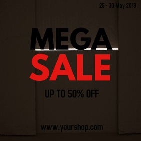 Mega Sale Online Shopping Packet Offer Advert Carré (1:1) template
