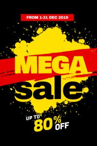 Mega Sale Poster Template