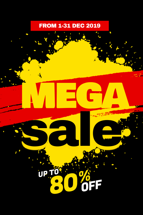 Mega Sale Poster Template