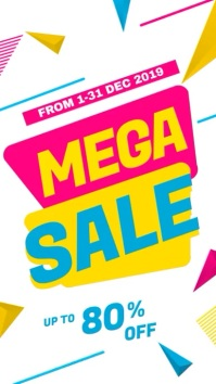 Mega Sale Promotional Video template