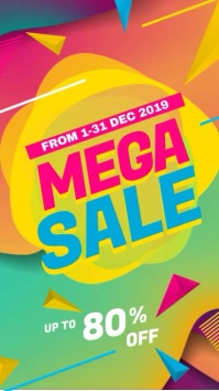 Mega Sale Promotional Video display hd