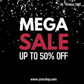 Mega Sale Video Black Offer Ad Promo Social Media