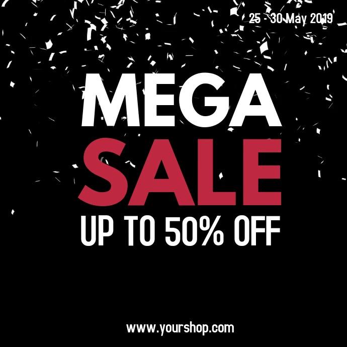 Mega Sale Video Black Offer Ad Promo Social Media