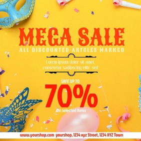 Mega Sale video sell-out advert promo fashion