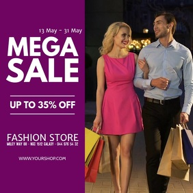Mega Sale video sell-out advert promo fashion store retail