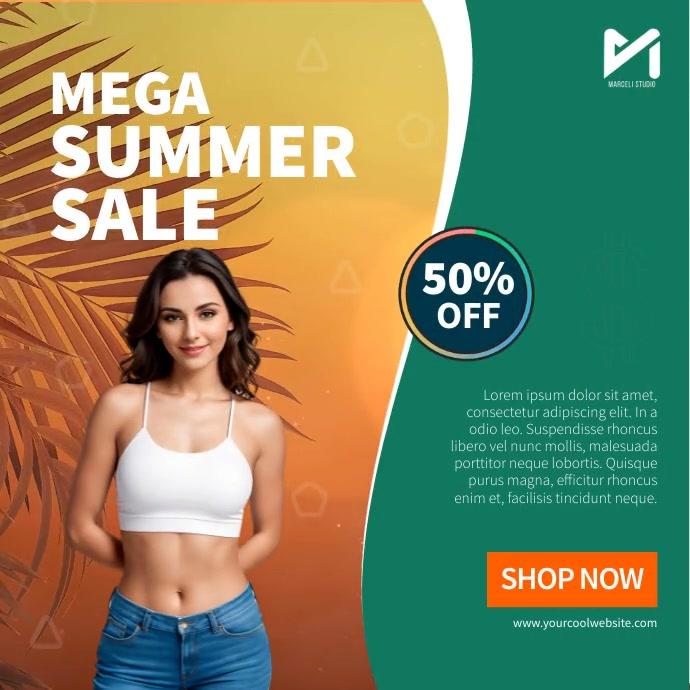 Mega Summer Sale Video Template Isikwele (1:1)