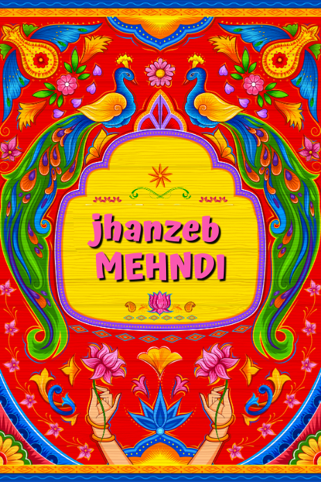 Mehndi Poster Plakkaat template