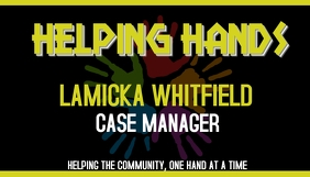 Helping Hands Business case manager social work template