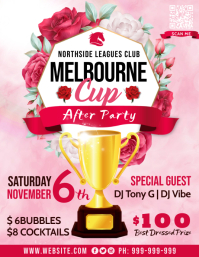 Melbourne Cup After Party Poster Flyer (US Letter) template