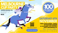 Melbourne Cup Facebook Event Cover template