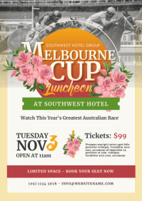 Melbourne Cup Flyer A4 template