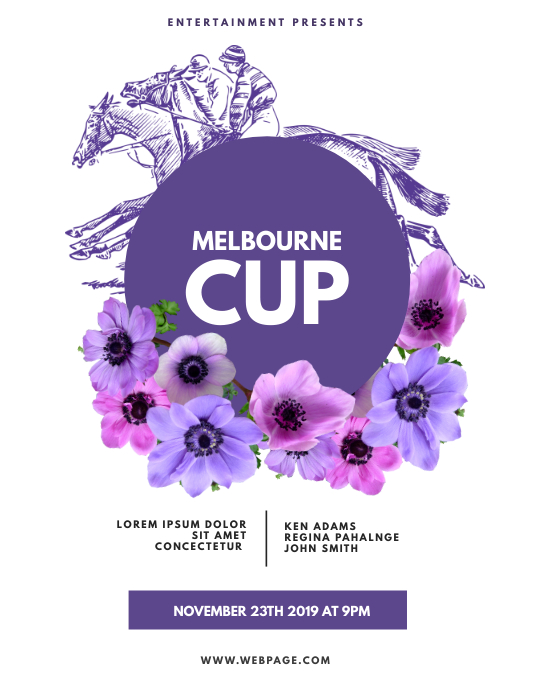Melbourne Cup Horse Race Flyer Template