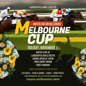 Melbourne Cup Instagram Post template