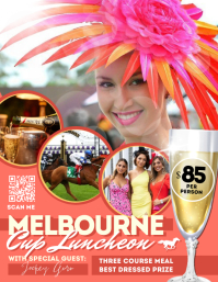 Melbourne Cup Luncheon Flyer (US Letter) template