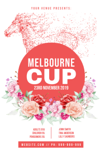Melbourne Cup Poster template