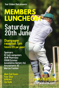 Members Luncheon Poster template