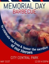 Memorial Day, Barbecue Volantino (US Letter) template
