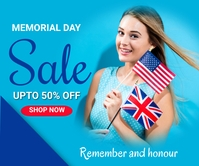 Memorial day sale,event,31st may Grand rectangle template