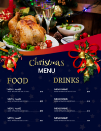 Christmas menu,christmas Volante (Carta US) template